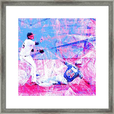 The Boys Of Summer 5d28208 The Double Play Square V2 Framed Print by Wingsdomain Art and Photography