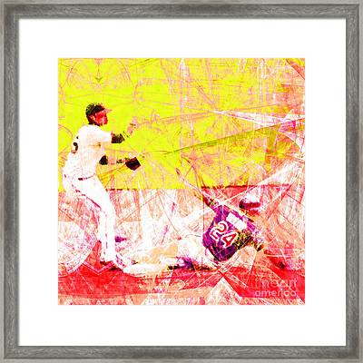 The Boys Of Summer 5d28208 The Double Play Square V3 Framed Print by Wingsdomain Art and Photography