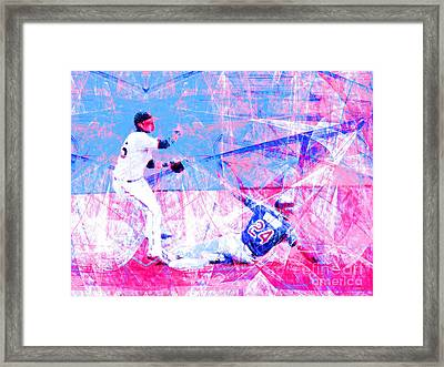 The Boys Of Summer 5d28208 The Double Play V2 Framed Print by Wingsdomain Art and Photography