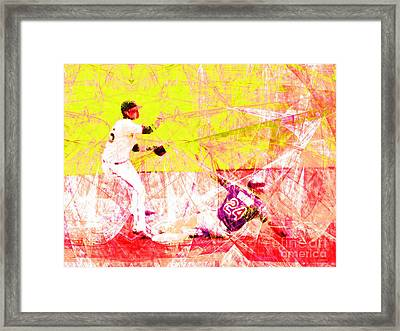 The Boys Of Summer 5d28208 The Double Play V3 Framed Print by Wingsdomain Art and Photography