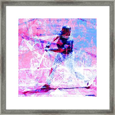 The Boys Of Summer 5d28228 The Batter Square Cool Lbb Framed Print by Wingsdomain Art and Photography