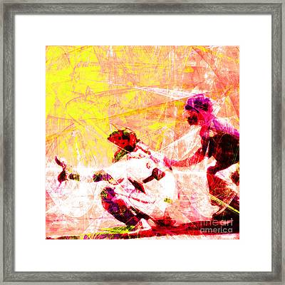 The Boys Of Summer 5d28228 The Catcher Square V2 Framed Print by Wingsdomain Art and Photography