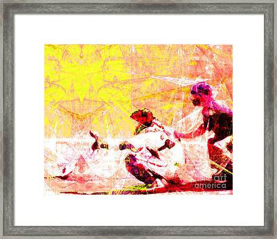 The Boys Of Summer 5d28228 The Catcher V2 Framed Print by Wingsdomain Art and Photography