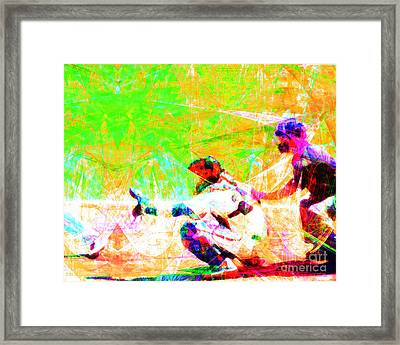 The Boys Of Summer 5d28228 The Catcher Framed Print by Wingsdomain Art and Photography