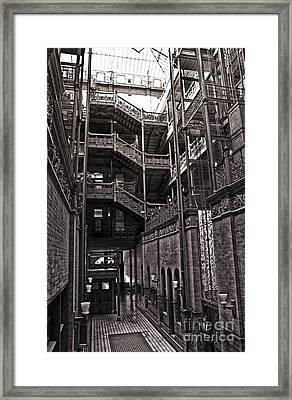 The Bradbury Building Framed Print by Gregory Dyer