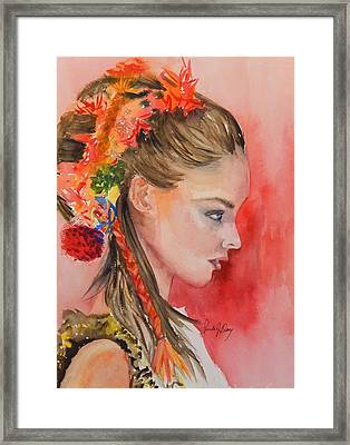 The Braid Is The Thing Framed Print by Paula Day