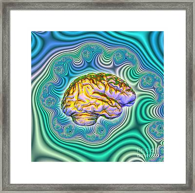 The Brain Framed Print by Dennis D. Potokar