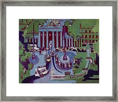 The Brandenburg Gate Berlin Framed Print by Ernst Ludwig Kirchner