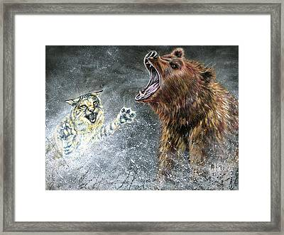 The Brawl Framed Print by Teshia Art