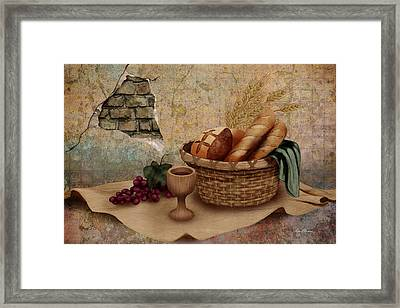 The Bread Of Life Framed Print by April Moen