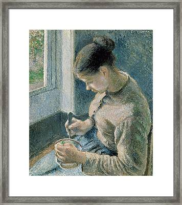 The Breakfast Framed Print by Camille Pissarro