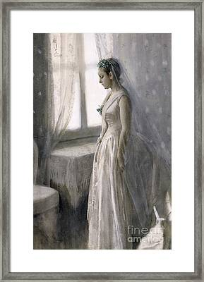 The Bride Framed Print by Anders Leonard Zorn