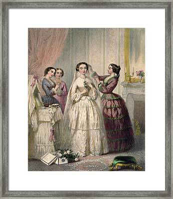 The Bride, Engraved By J. Battannier, 1852-53 Colour Litho Framed Print by Henri Lafon