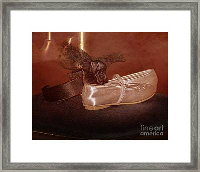 The Bridesmaid's Shoes Framed Print by Terri Waters
