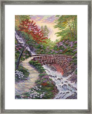 The Bridge Across Framed Print by David Lloyd Glover