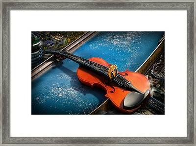 The Bridge Framed Print by Alessandro Della Pietra