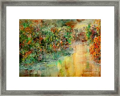 The Bridge Framed Print by Alfred Motzer