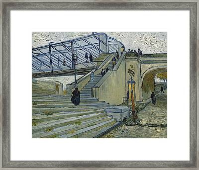 The Bridge At Trinquetaille Framed Print by Vincent van Gogh