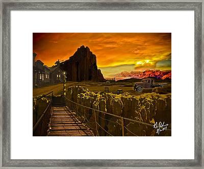 The Bridge Framed Print by Gerry Robins