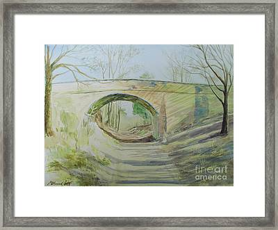 The Bridge Of More Or Less Framed Print by Martin Howard