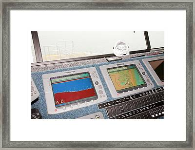 The Bridge Of The Offshore Support Vessel Framed Print by Ashley Cooper