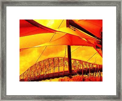 The Bridge On Mars Framed Print by Wendy J St Christopher