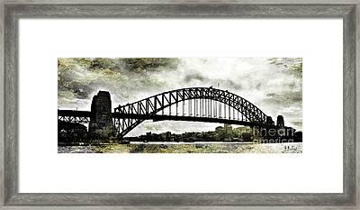 The Bridge Spattled Framed Print by Helge