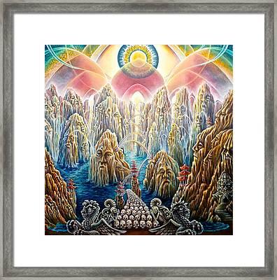 The Bridge To Nirvana Framed Print by Morgan  Mandala Manley