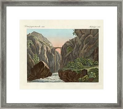 The Bridge To Ronda Framed Print by Splendid Art Prints