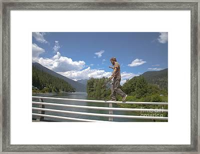 The Bridge Walk Framed Print by Graham Foulkes