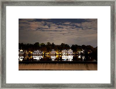 The Bright Lights Of Boathouse Row Framed Print by Bill Cannon
