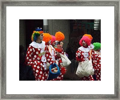 The Brightest Street Performers Framed Print by Brenda Brown