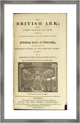 The British Ark Framed Print by British Library