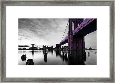The Brooklyn Bridge Framed Print by Brian Reaves