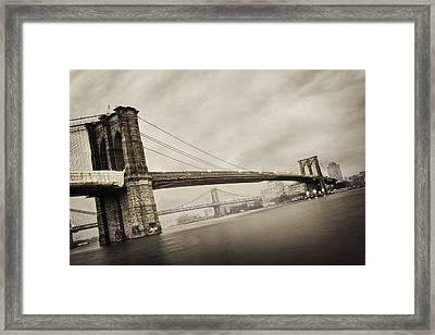 The Brooklyn Bridge Framed Print by Eli Katz