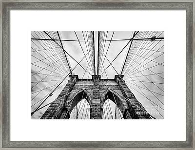 The Brooklyn Bridge Framed Print by John Farnan