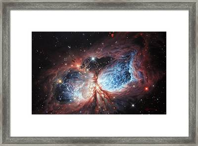 The Brush Strokes Of Star Birth Framed Print by Lucy West