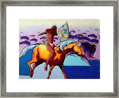 The Buffalo Hunter Framed Print by Joe  Triano