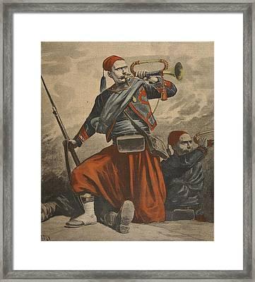 The Bugles Of Malakoff, Illustration Framed Print by Henri Meyer