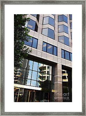 The Building Across The Street Framed Print by Nancy E Stein