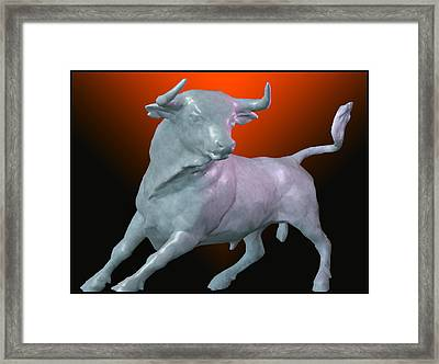 The Bull... Framed Print by Tim Fillingim