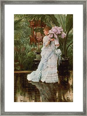 The Bunch Of Lilacs, C.1875 Framed Print by James Jacques Joseph Tissot