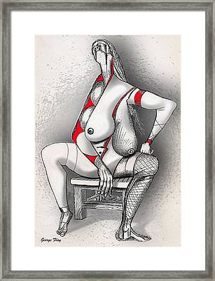The Burden Of Life Framed Print by George Flay