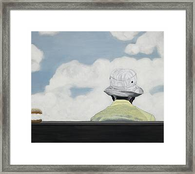 The Burger Hereafter Framed Print by Marcella Lassen