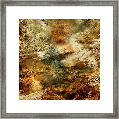 The Burning Bush - Abstract Realism Framed Print by Georgiana Romanovna