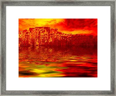 The Burning Zone Framed Print by Wendy J St Christopher