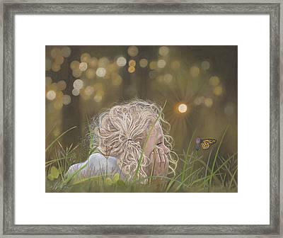 The Butterfly Framed Print by Terry Kirkland Cook