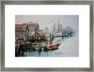 The B'y That Catches The Fish Framed Print by Hanne Lore Koehler