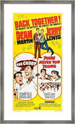 The Caddy, Us Poster Art, From Left Framed Print by Everett