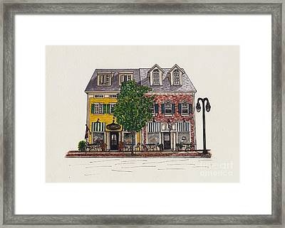 The Cafe Mantic Framed Print by Michelle Welles